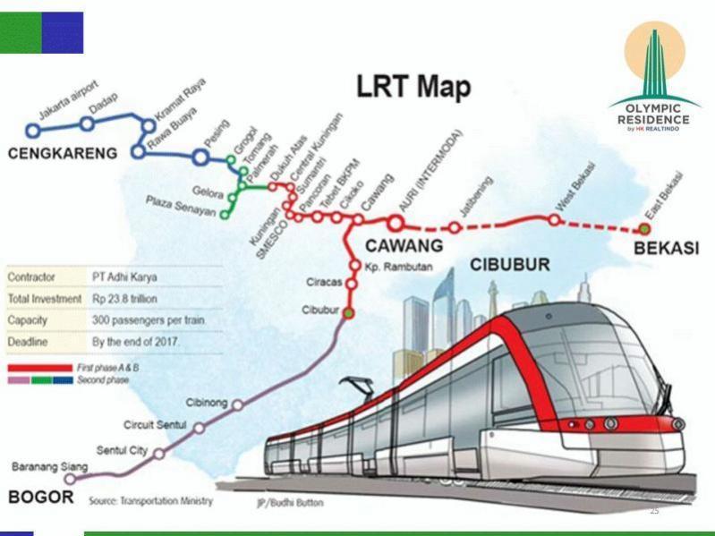 map LRT sentul sirkuit